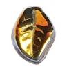 Glass Leaves 9X14mm Olive Green/Half Marea Coating Strung